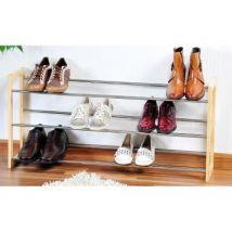 Range chaussures extensible 3 niveaux - Jusqu'à 18 paires - Soin du linge