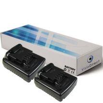 Lot de 2 batteries pour Black et Decker SSL20SB perceuse sans fil 1500mAh 14.4V - Visiodirect - - Chargeurs, batteries et socles