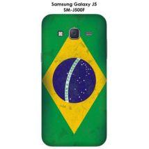 Coque Samsung Galaxy J5 - SM-J500F Drapeau Brésil vintage - Etui pour téléphone mobile