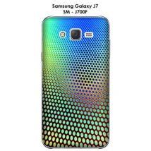 Coque Samsung Galaxy J7 - SM-J700F Dégradé bleu & marron - Etui pour téléphone mobile