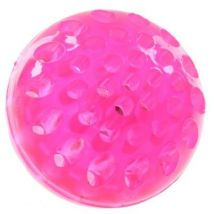 Balle LED à presser fluorescente rose - Jouets à manipuler