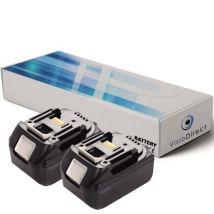 Lot de 2 batteries pour Makita PT351DZK outil sans fil 3000mAh 18V - Visiodirect - - Chargeurs, batteries et socles