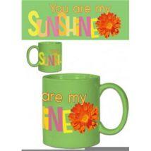 Inspiration Tasse A Café Mug - You Are My Sunshine, Vert (9x8 cm) - Vaisselle
