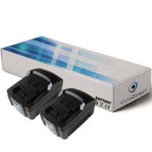 Lot de 2 batteries type 6.25468 pour Metabo 3000mAh 18V - Visiodirect - - Chargeurs, batteries et socles