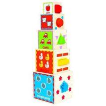 Hape - e0413 - jouet de premier age - pyramide de jeu - Jeux d'éveil