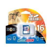 Dane-Elec - carte mémoire flash - 16 Go - SDHC - Carte mémoire SD