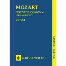 Partitions classique HENLE VERLAG MOZART W.A. - SERENADE C MINOR K. 388 (384A) FOR TWO OBOES, TWO CLARINETS (BB), TWO HORNS AND TWO BA Musique de cham
