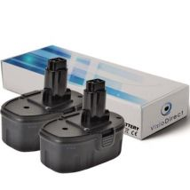 Lot de 2 batteries pour DEWALT DC380KB scie alternative 3000mAh 18V - Visiodirect - - Chargeurs, batteries et socles