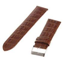 Bracelet de montre Marron en Cuir véritable motif Bambou 24mm - Bracelet de montres