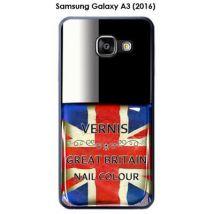 Coque Samsung Galaxy A3 (2016) - A310F design Vernis Great Britain - Etui pour téléphone mobile