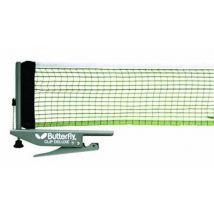 Butterfly clip deluxe filet de tennis de table et poteaux noir blanc 27 cm - Equipements de tennis de table