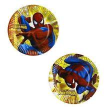 Assiettes en carton - Spiderman : Lot de 8 assiettes 23 cm - Article de fête