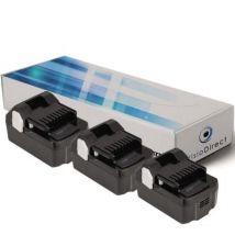 Lot de 3 batteries pour Hitachi C18DSL scie circulaire 3000mAh 18V - Visiodirect - - Chargeurs, batteries et socles