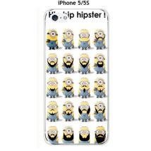 Coque Apple iPhones 5 / 5S design Minions en Hipster - Etui pour téléphone mobile