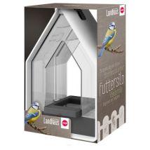 EMSA - Mangeoire Silo Landhaus pour Oiseaux - Blanc et Bleu Baltique - Mangeoires et abreuvoirs