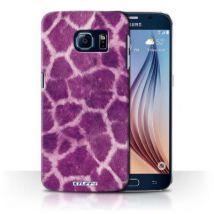 Coque de Stuff4 / Coque/Etui/Housse pour Samsung Galaxy S6/G920 / Pourpre Design / Girafe animale Peau/Motif Collection - Etui pour téléphone mobile