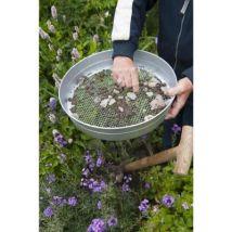 Tamis O37cm 12mm avec grille en acier galvanisé maille - Outillage de jardin à main
