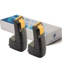 Lot de 2 batteries pour Festool FS-984N outils sans fil 2000mAh 9.6V - Visiodirect - - Chargeurs, batteries et socles