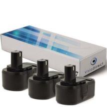 Lot de 3 batteries pour Ryobi CHD-1801M perceuse visseuse 3000mAh 18V - Visiodirect - - Chargeurs, batteries et socles
