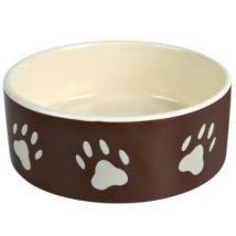 Ecuelle Céramique Avec Empreintes De Pattes - Mon Animalerie - Gamelles et distributeurs pour chat