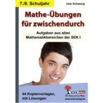 Mathe-Ubungen fur zwischendurch - 7./8. Schuljahr Aufgaben aus allen Mathematikbereichen der SEK I - Autres