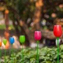 Ensemble de 4 Lampes solaires LED multicolores pour Jardin - Luminaires extérieur
