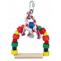 Balancoire Arquée Avec Blocs Bois Multicolor, 20 × 29 Cm - Mon Animalerie - Jouets oiseaux