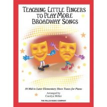 Partitions variété, pop, rock... HAL LEONARD TEACHING MORE LITTLE FINGERS TO PLAY MORE BROADWAY SONGS + CD - PIANO SOLO Musique films - comédies music