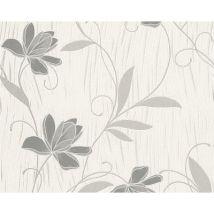 Papier peint EXP LOTUS GRIS PAILLETTE ARGENT Lot de 12 - Décoration des murs