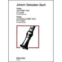 Partitions classique BARENREITER BACH J.S. - PARTITA NACH BWV 1013 IN C-MOLL (DO MINEUR) - FLUTE A BEC ALTO Flute à bec - broché