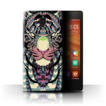 Coque de Stuff4 / Coque/Etui/Housse pour Xiaomi Redmi 1S / Tigre-Couleur Design / Motif Animaux Aztec Collection - Etui pour téléphone mobile