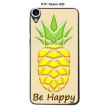 Coque HTC Desire 820 Ananas Beige Be Happy - Etui pour téléphone mobile