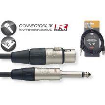 Cables Asymétriques Stagg Nmc6Xpr Xlr Femelle / Jack Male Mono 6M Cables Xlr / Jack Asymetrique - Cables et cordons