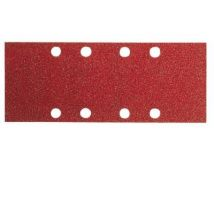 Bosch Velcro 10 X Papier Abrasif 93 X 185 Mm Bois Rouge Grain 80 - Accessoires ponceuse