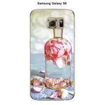 Coque Samsung Galaxy S6 Parfum rose Remeber - Etui pour téléphone mobile