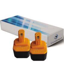 Lot de 2 batteries pour Ryobi Paslode BID1230 outillage portatif 3300mAh 12V - Visiodirect - - Chargeurs, batteries et socles