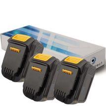 Lot de 3 batteries pour DEWALT DCD730M2 perceuse visseuse 3000mAh 14.4V - Visiodirect - - Chargeurs, batteries et socles