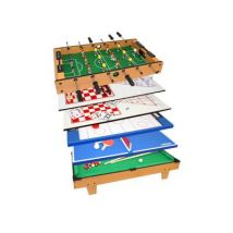 Table jeux multiples 8 en 1 (baby-foot, billard, echecs...) 82cm kein hersteller mh88833 - Babyfoot