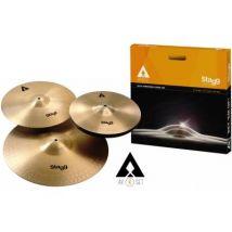 Cymbales STAGG AXK SET - COPPER-STEEL SET DE CYMBALES 14+16+20 Packs de cymbales - Cymbale