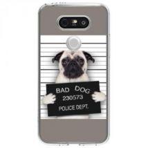 Coque Rigide Transparente Pour Lg G5 Avec Impression Motifs Bulldog Prisonnier