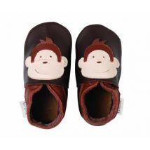Chaussons bobux singe chocolat - Autres cadeaux naissance