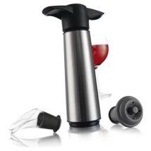 Vacu vin 0649360 coffret avec 1 pompe/2 bouchons et 2 anti-gouttes - Accessoire cave à vin
