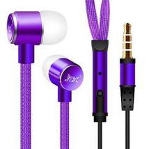 Ecouteurs antibruit de style sportif pour téléphones intelligents Violet - Casque PC