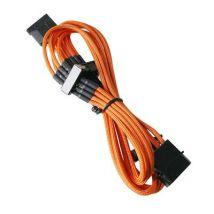 Bitfenix - Alchemy Orange - Cordon d'alimentation gainé - Molex vers 4x SATA - 20 cm (coloris orange) - Accessoire pour guitare