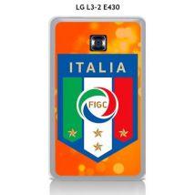 Coque LG L3-2 E430 design Foot Italie fond bleu - Etui pour téléphone mobile