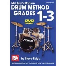 Méthodes et pédagogie MEL BAY FIDYK STEVE - MODERN DRUM METHOD GRADES 1 - 3 - DRUM SET Percussion - broché