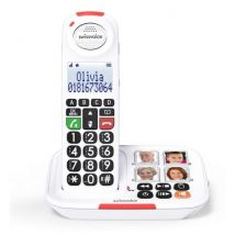 Téléphone Fixe sans fil Swissvoice Xtra 2155 Blanc - Téléphone sans fil