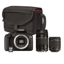 Appareil Photo Reflex Canon Eos 2000d + Objectif Ef-s 18-55 Mm F/3.5-5.6 Is Ii + Objectif Ef 75-300 Mm F/4-5.6 Iii + Sac Sb130 + Carte Mémoire Sd 16