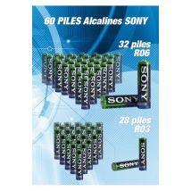 Pack De 60 Piles Alkaline Sony