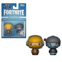 Figurine Funko Pop PSH 2Pack Fortnite Raptor et Elite Agent - Petite figurine